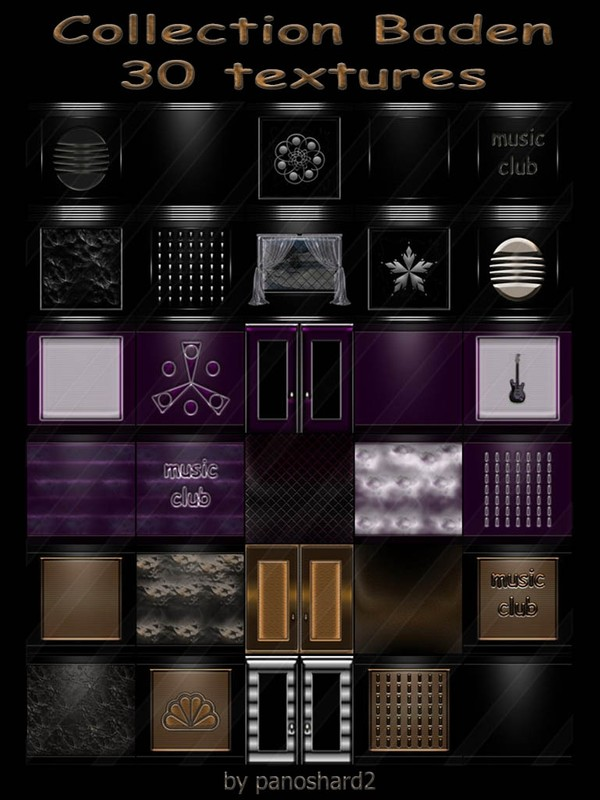 Collection Baden 30 textures for imvu rooms