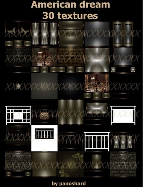 $10 three textures pack offer  : anerican dream - windows courtains - sao paulo