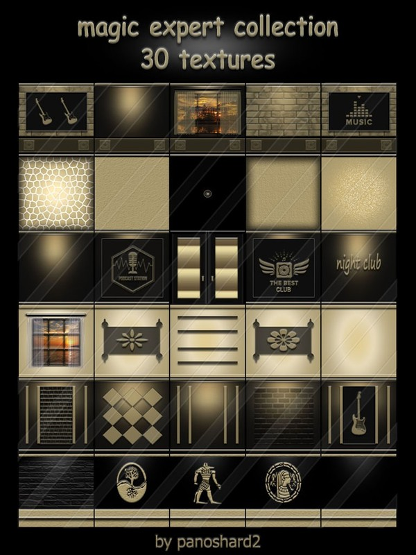 magic expert collection 30 textures for rooms