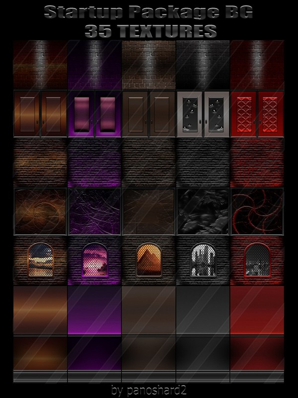 Startup Package BG 35 TEXTURES FOR IMVU ROOMS