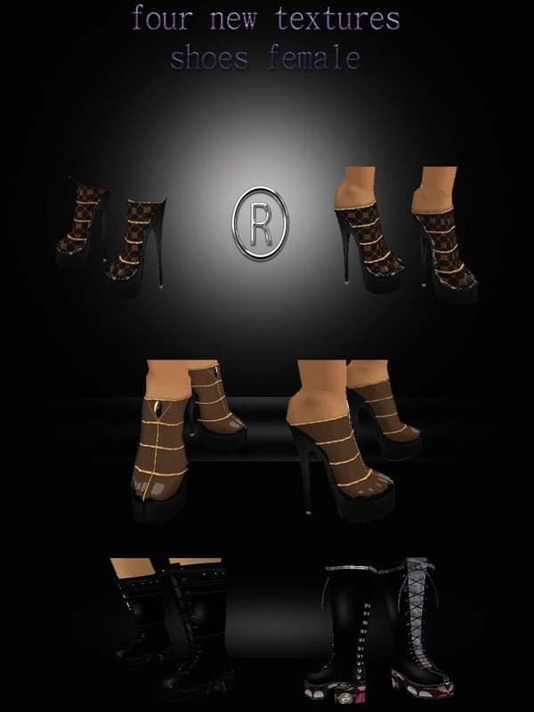 four new textures imvu shoes female