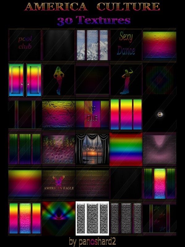 AMERICA CULTURE 30 TEXTURES FOR  IMVU ROOMS