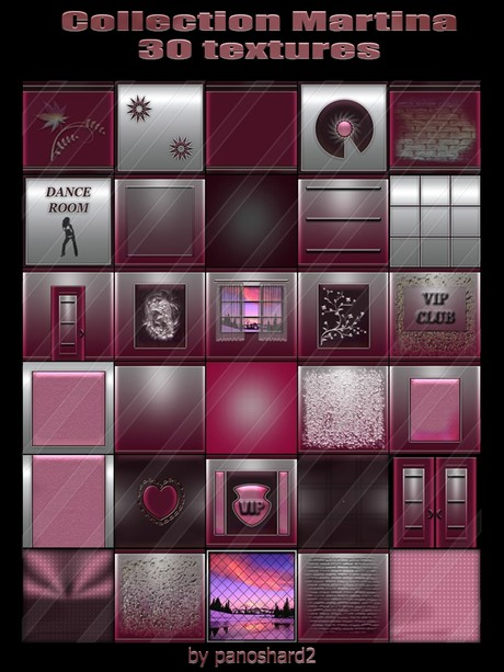 Collection Martina 30 textures for imvu creator rooms  ( will be sold to ten creator)