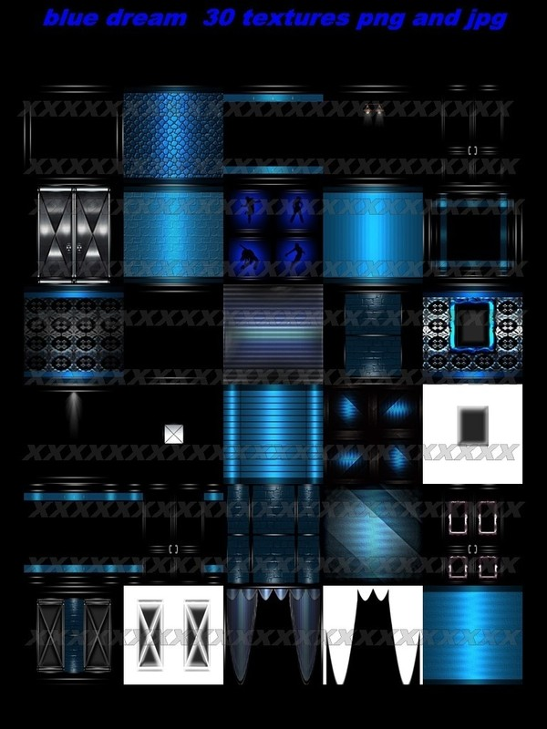 BLUE DREAM 30 TEXTURES  FOR IMVU ROOMS