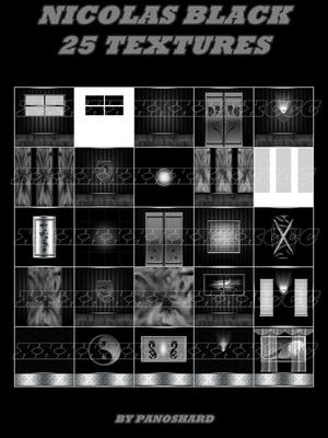 NICOLAS  BLACK 25 TEXTURES IMVU ROOM