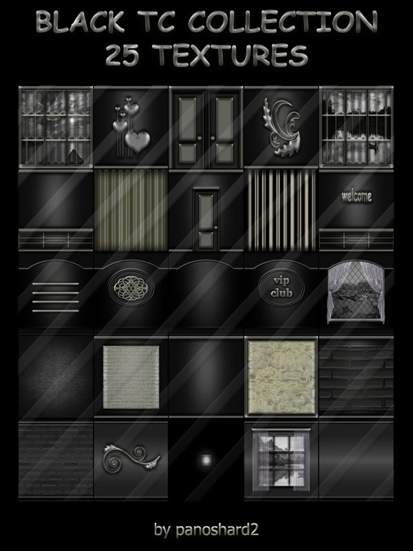Black tc collection 25 textures for imvu