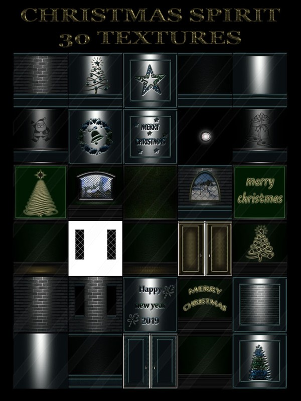 CHRISTMAS SPIRIT 30 TEXTURES  FOR   IMVU ROOMS