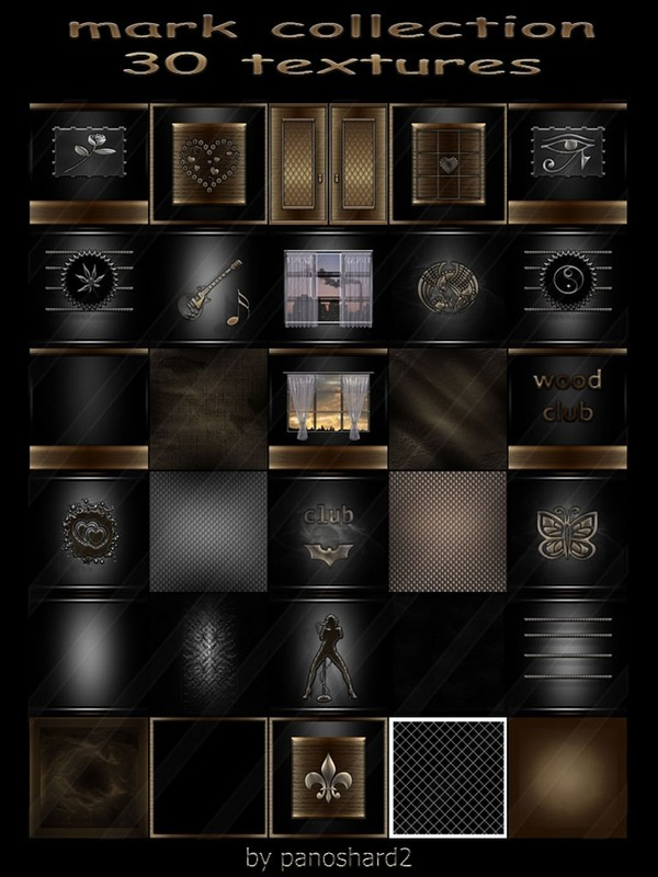 Mark  collection 30 textures for imvu rooms