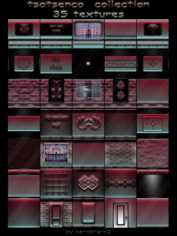 Tsatsenco  collection 35 textures for imvu creator rooms (will be sold to ten creators)