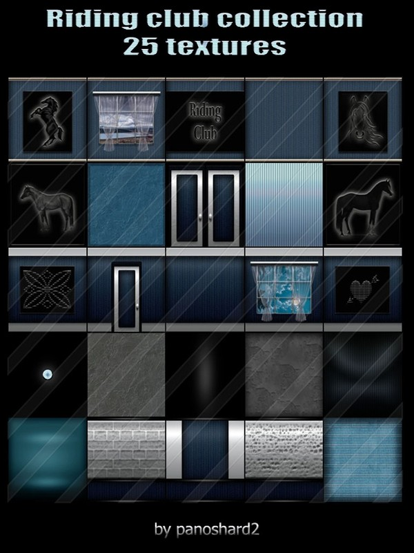 Riding club  collection 25 textures for the construction of rooms  ( will be sold to ten creator)