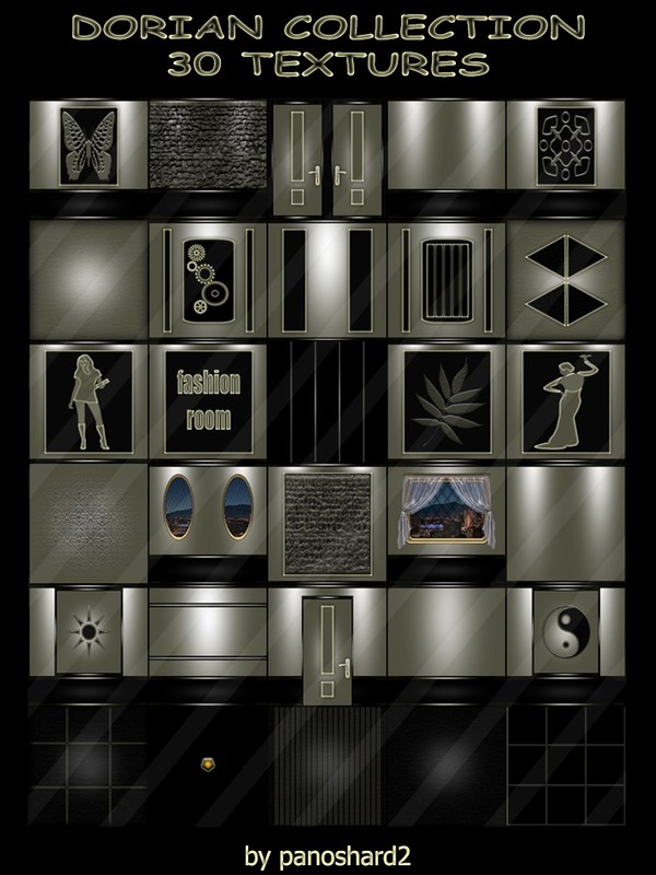 DORIAN COLLECTION 30 TEXTURES FOR IMVU ROOM CONSTRUCTION  ( will be sold to ten creator)