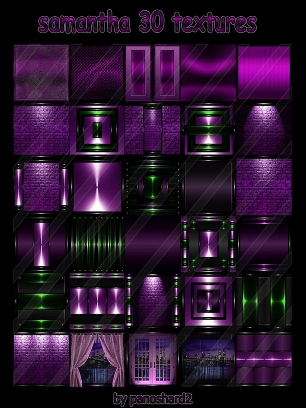 samantha  30 textures for imvu rooms