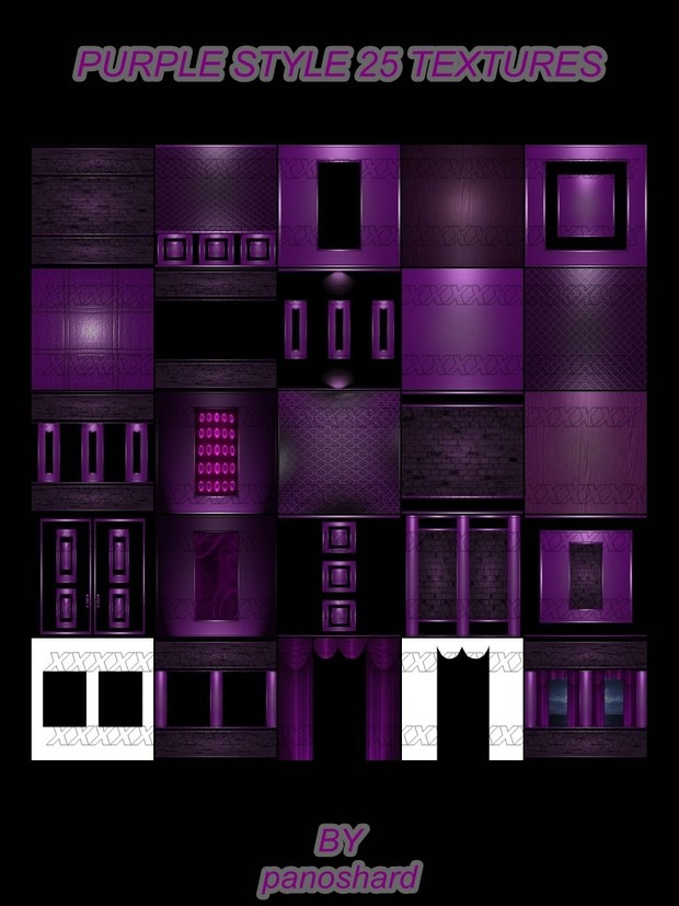 Purple style 25 textures ROOM