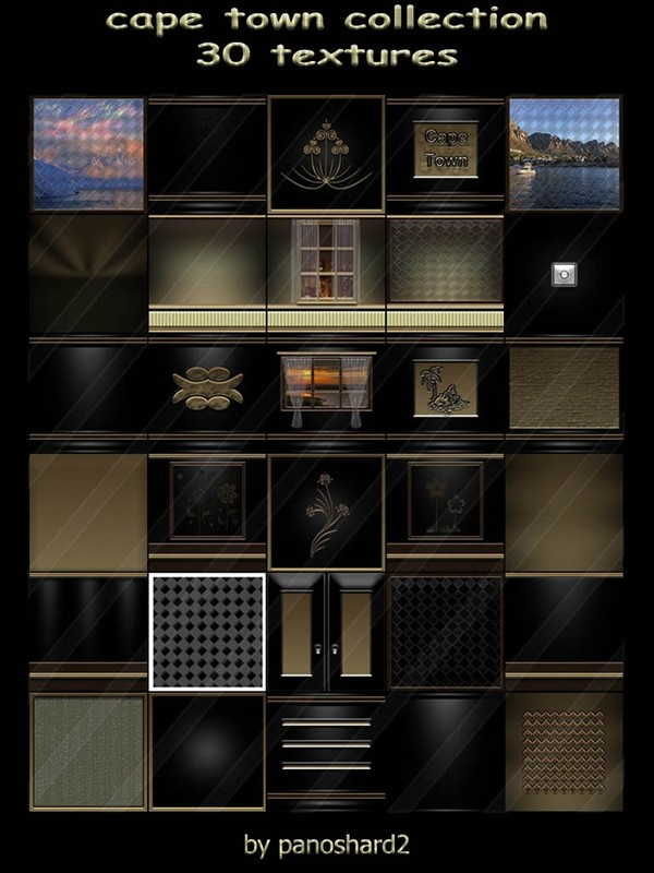 cape town collection 30 textures for imvu creator (will be sold to ten creators)