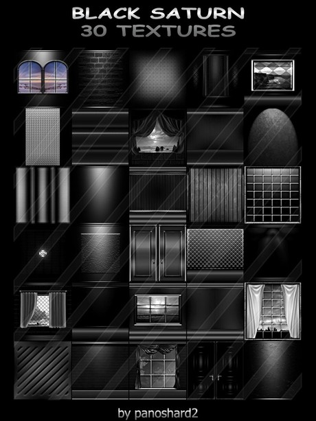 BLACK SATURN 3O TEXTURES FOR IMVU CREATOR ROOMS ( will be sold to ten creator)