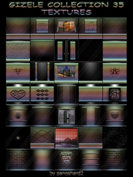 GIZELE COLLECTION 35 TEXTURES  FOR IMVU CREATOR ROOMS (will be sold to ten creators)