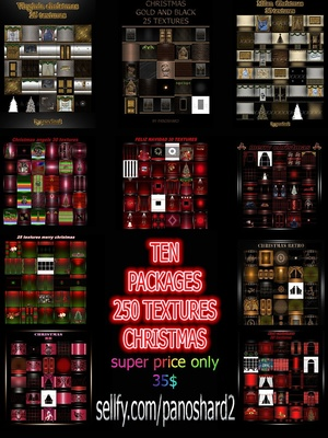 TEN PACKAGES 250 TEXTURES CHRISTMAS ROOM