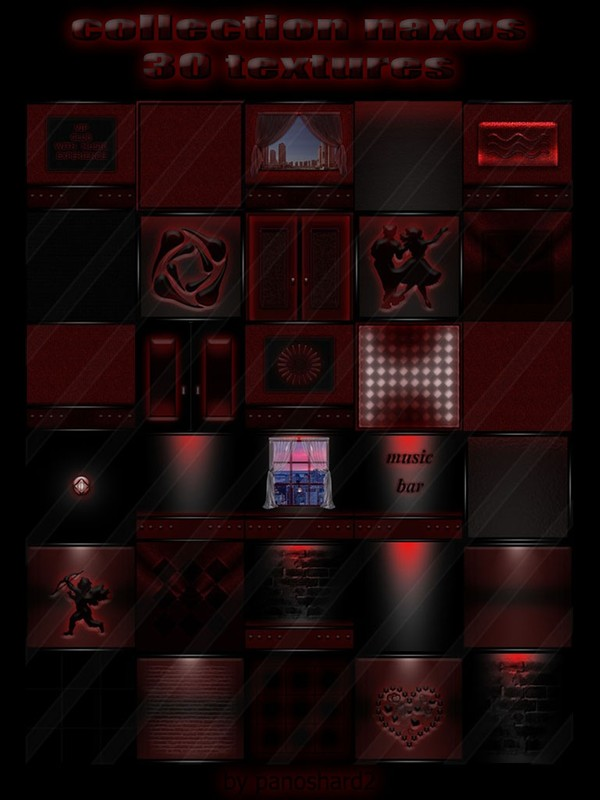 Collection naxos 30 textures  for imvu creators rooms  (will be sold to ten creators)