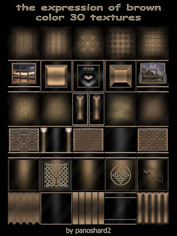 The expression of brown color 30 textures for imvu creator (will be sold to ten creators) prevent !!