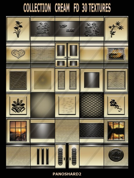 COLLECTION CREAM   FD  30 TEXTURES FOR IMVU CREATOR ROOMS  (will be sold to ten creators)