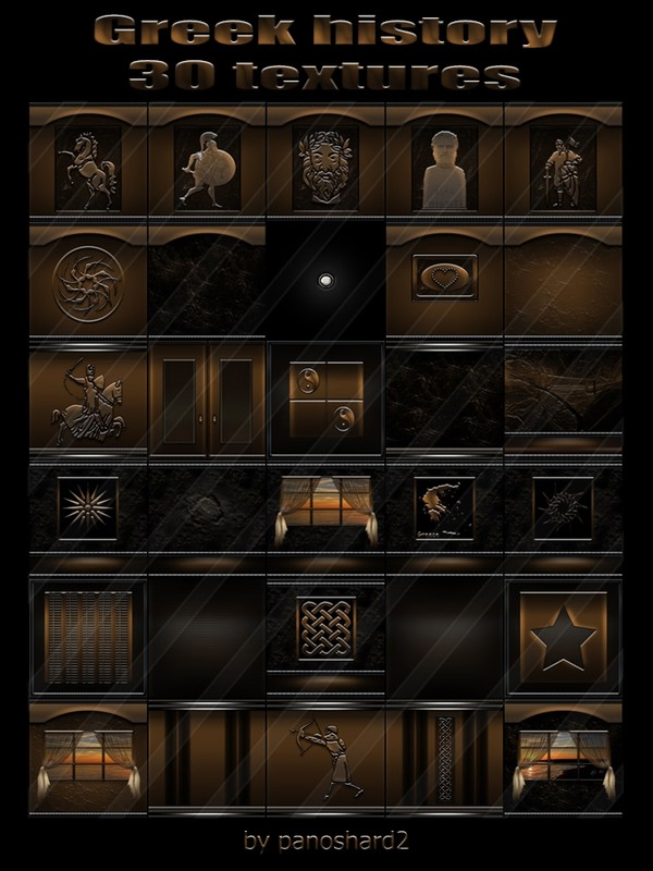 Greek history 30 textures for imvu rooms (will be sold to 10 creators)