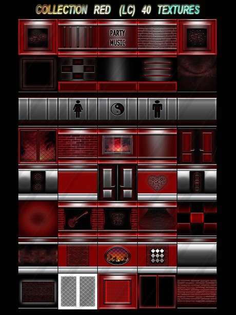 COLLECTION RED  (LC) 40 TEXTURES FOR IMVU CREATOR ROOMS  (will be sold to ten creators)