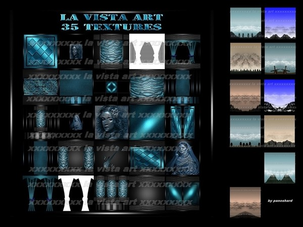 La vista art 35 textures  for imvu creator