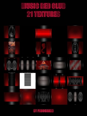 MUSIC RED CLUB 21 TEXTURES IMVU ROOM