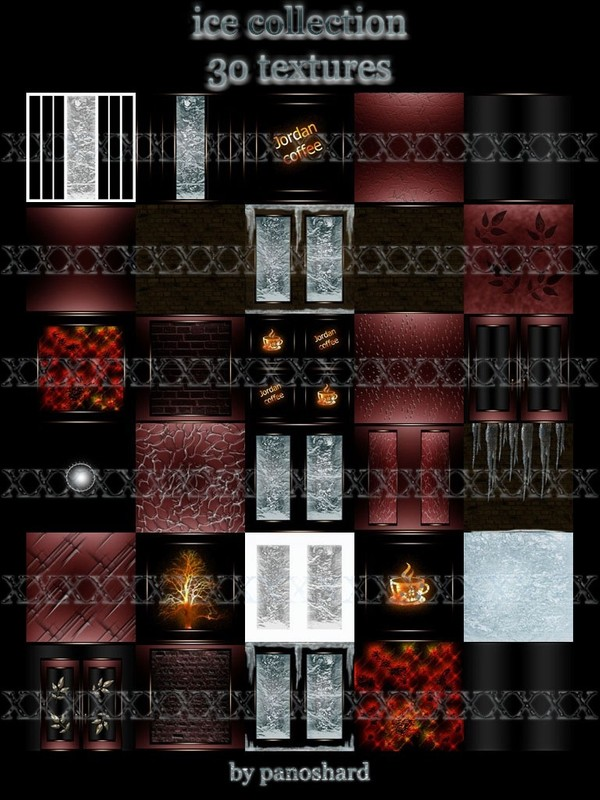 Ice collection1    30 textures for  imvu rooms