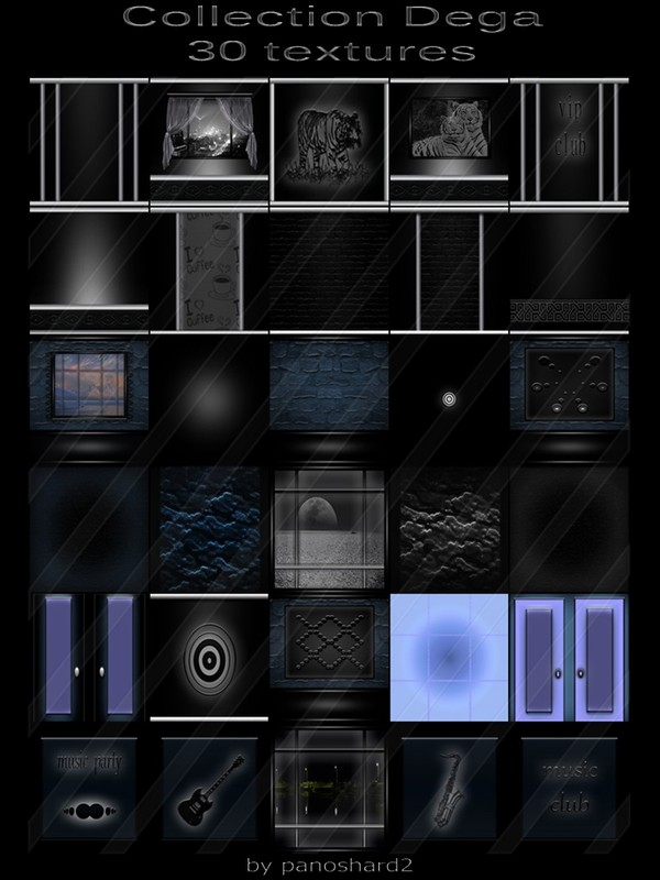 Collection Dega 30 textures for imvu creator rooms  (will be sold to ten creators)