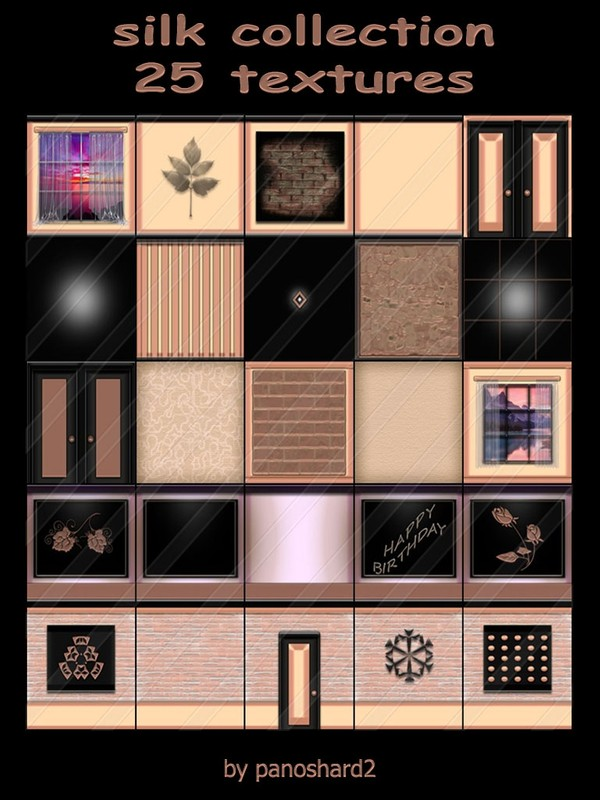 silk collection 25 textures for imvu rooms
