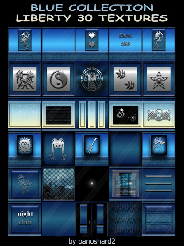 BLUE COLLECTION LIBERTY 30 TEXTURES  FOR IMVU CREATOR ROOMS (will be sold to ten creators)