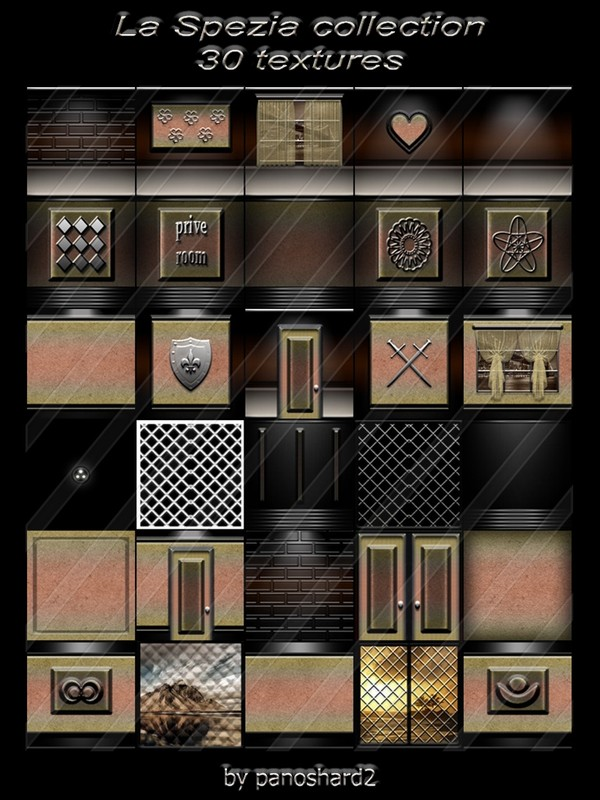 La Spezia collection 30 textures for the construction of rooms  ( will be sold to ten creator)
