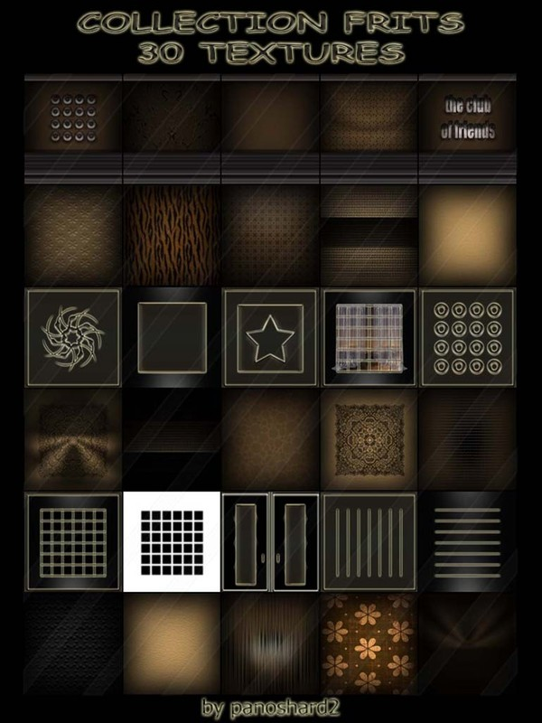 COLLECTION FRITS  30 TEXTURES (will be sold to ten creators) prevent !!!