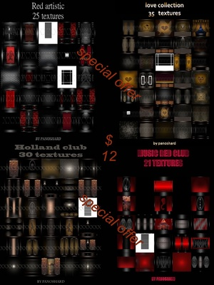 FOUR PACK  111  TEXTURES ROOM IMVU