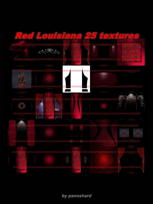 Red Louisiana 25 textures for imvu rooms