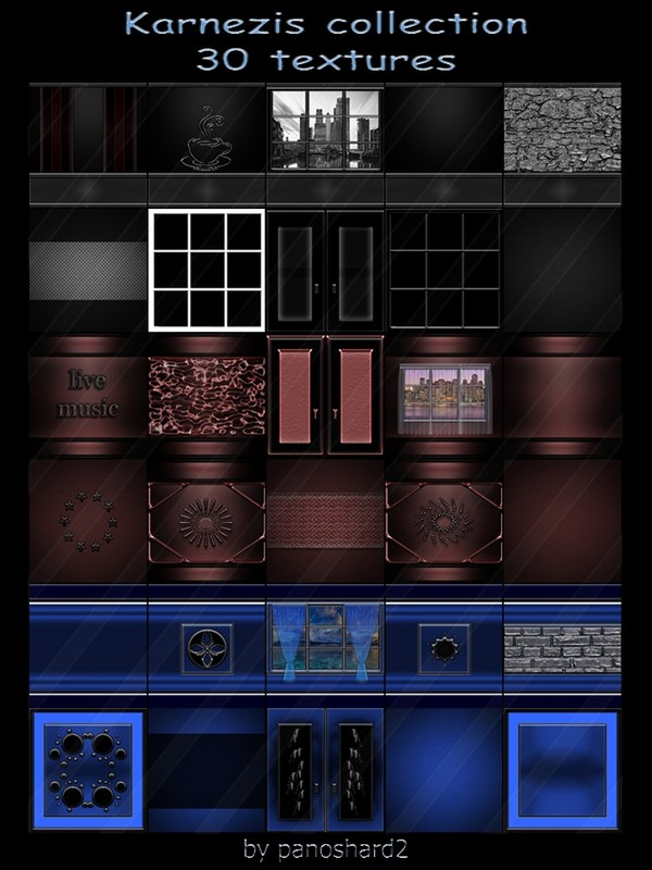 Karnezis collection 30 textures for imvu rooms
