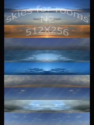 10 SKIES FOR ROOMS N2 512X256