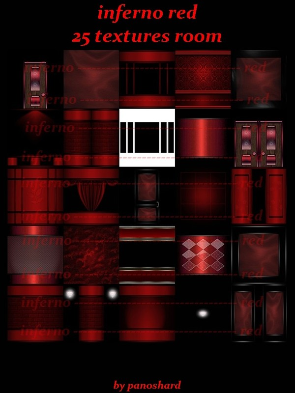 inferno red 25 textures for imvu  rooms