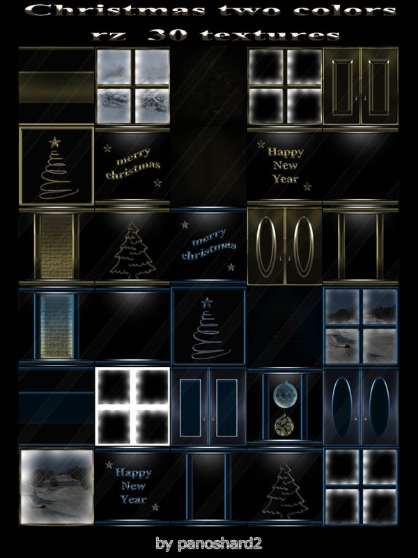 Christmas two colors  rz  30 textures  for imvu rooms