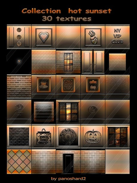 Collection  hot sunset 30 textures for imvu creator rooms (will be sold to ten creators)