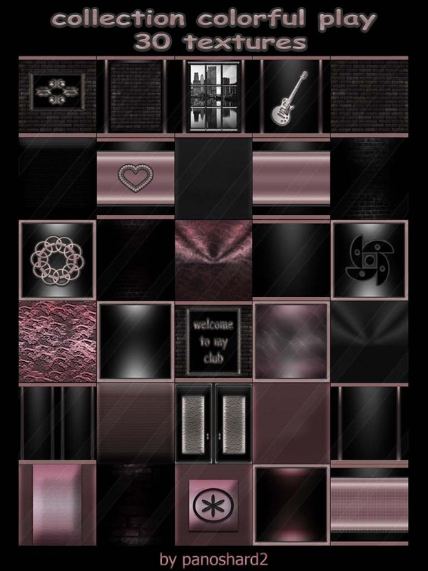 Collection colorful play 30 textures for imvu rooms (will be sold to ten creators) prevent !!!