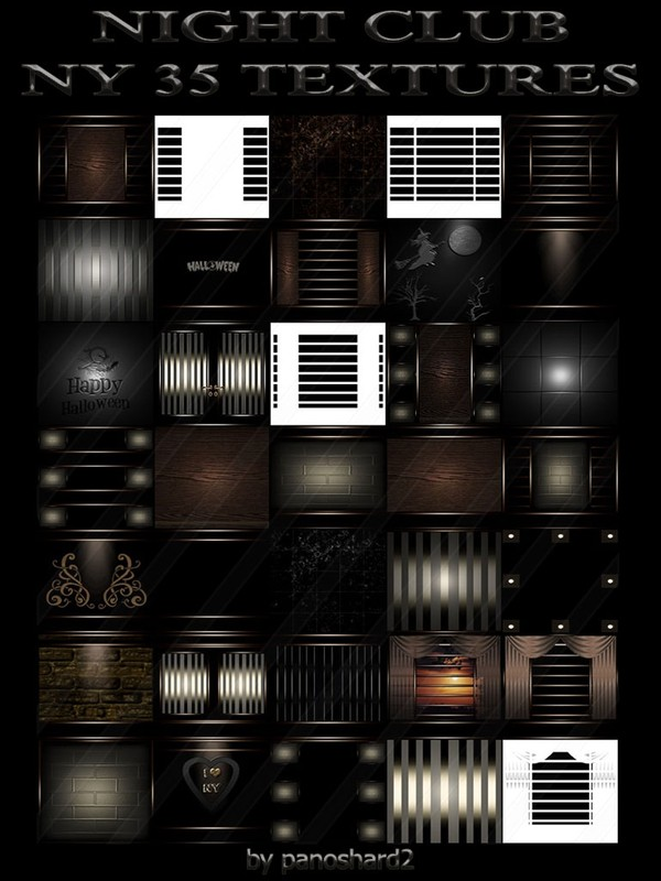 NIGHTCLUB NY 35 TEXTURES FOR IMVU ROOMS