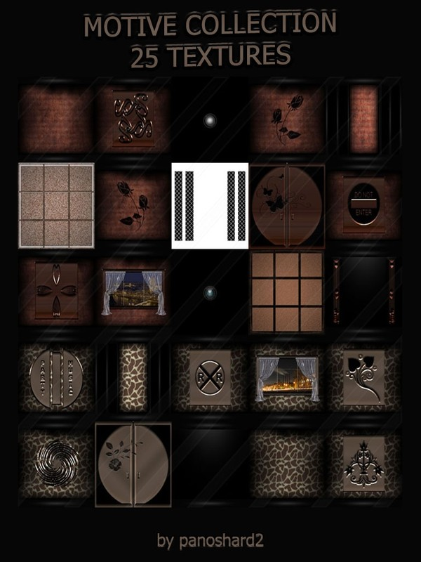 MOTIVE COLLECTION 25 TEXTURES FOR IMVU