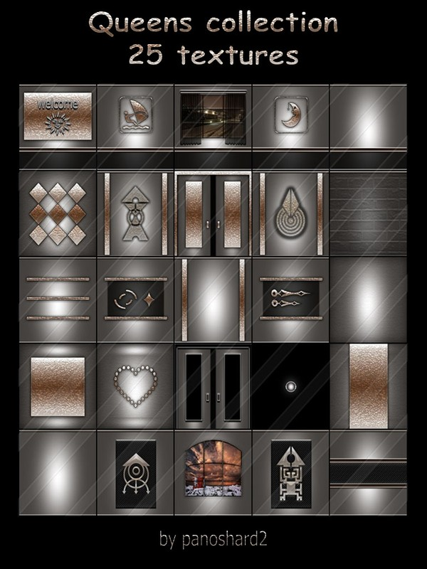 Queens collection 25 textures for imvu rooms