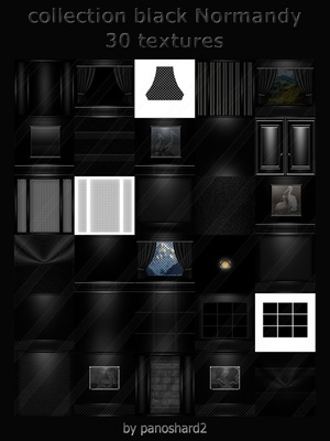 Collection black Normandy 30 textures imvu room
