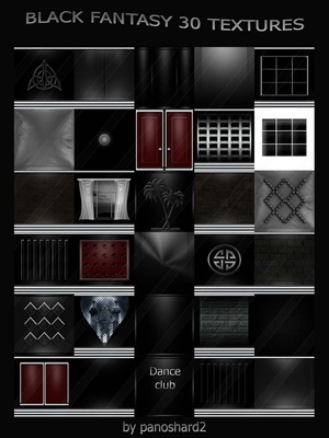 BLACK FANTASY 30 TEXTURES FOR IMVU ROOM