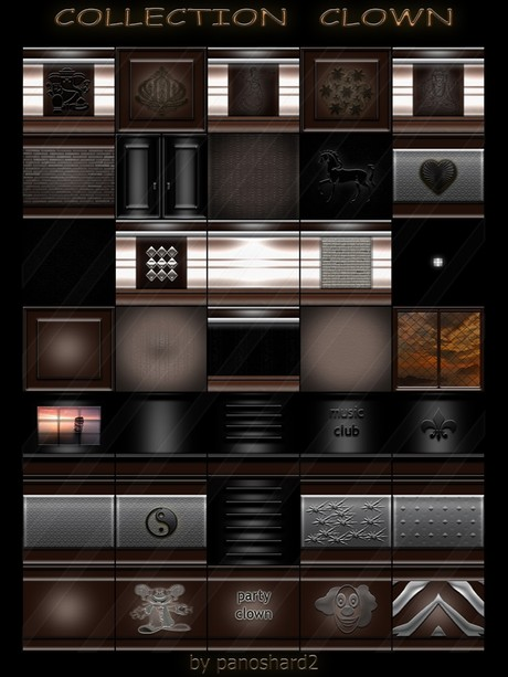 COLLECTION  CLOWN  35 TEXTURES FOR IMVU CREATOR ROOMS  (will be sold to ten creators)