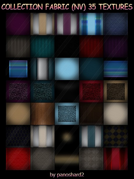 COLLECTION FABRIC (NV) 35 TEXTURES FOR IMVU  FURNITURE AND PILLOWS (will be sold to ten creators)