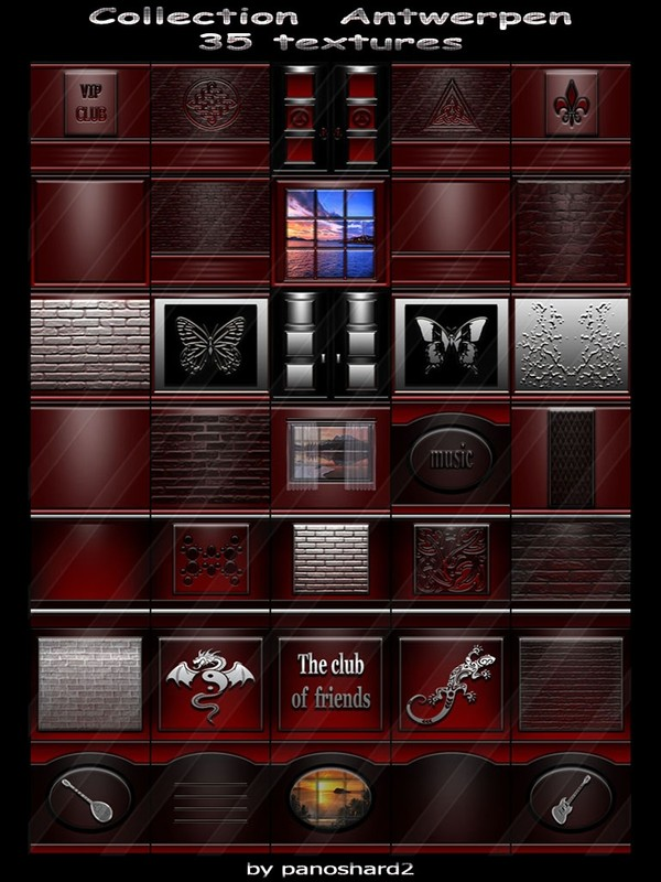 Collection  Antwerpen  35 textures for imvu creator rooms  (will be sold to ten creators)